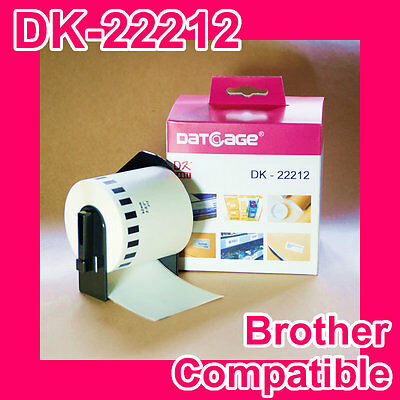 1 Roll of Compatible Brother DK-22212 White Continuous Film Roll