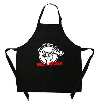 Metal Kids Hells Kitchen Cooking Apron Kitchen Baking  Childrens Size 3-12 Years