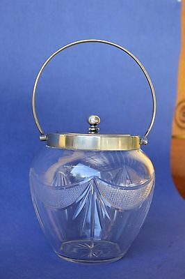 Antique cut glass Biscuit Barrel.