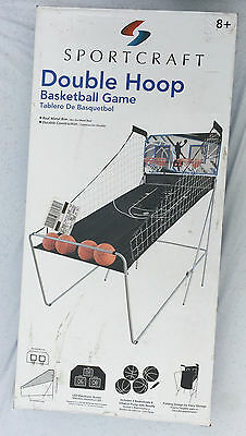 SportCraft Double Hoop Basketball Game New Metal Rim