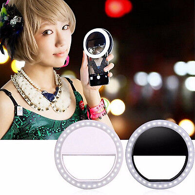 Selfie Portable LED Ring Fill Light Camera Photography For SmartPhone Huawei HTC