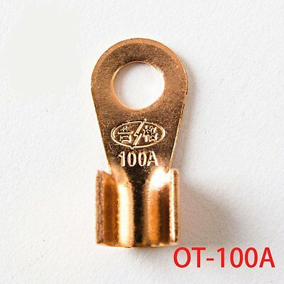 20Pcs 100A Copper Lug Cable  Connector Terminal Crimping 10-25mm2  Cable Wire
