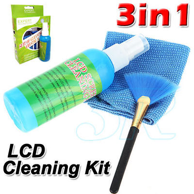 3 in1 Laptop Cleaning Kit TV PC LED LCD Monitor Screen
