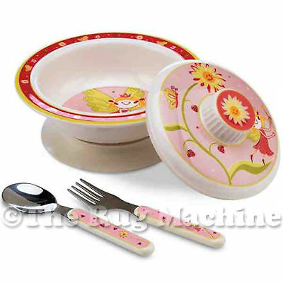 Sugar Booger Fairy Tale Time Kids Suction Bowl Gift Dinner Set **New**
