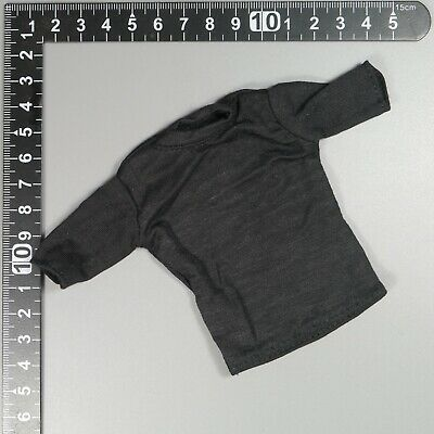 1:6 Scale ace Military action figure parts - Black T shirt shorter sleeve x 2