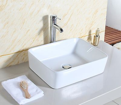 Cloakroom  rectangle Design Bathroom Ceramic Counter Top Wash Basin Sink Washing
