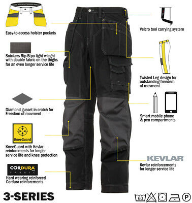 Snickers Workwear 3223 Floor Layers Trousers Snickers Direct Black
