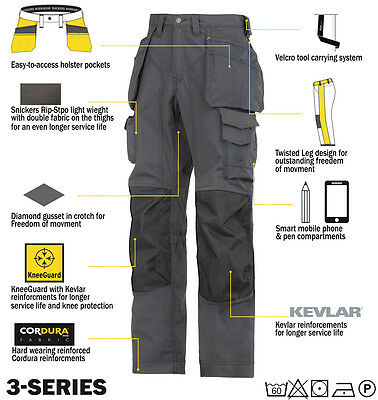 Snickers 3223 Floor Layers Trousers Snickers Direct Steel Grey