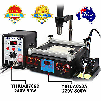 YIHUA Hot air gun Soldering Iron Rework Station Preheat stand holder BGA SMD AU