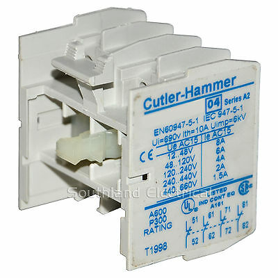 Cutler Hammer C320Kgt17 Auxiliary Contact Series A2--Ses