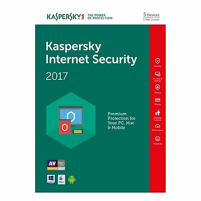 Kaspersky Internet Security 2017 multi-device 5PC / 1Year Original License