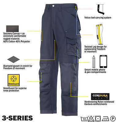 Snickers 3314 Trousers Canvas Work Trousers Snickers Direct Navy