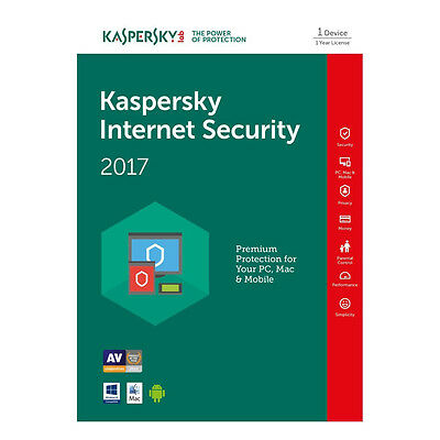 Kaspersky Internet Security 2017 multi-device 1PC / 1Year Original License
