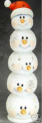 Ceramic Bisque Ready to Paint Snowman Heads  ( Lrg) lights up