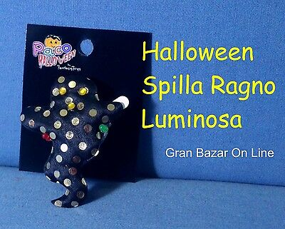 Halloween Fantasma Spilla Glitter Morbida Luminosa Dj Party Horror