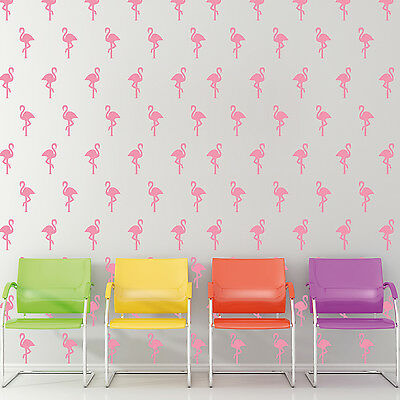 Pink Flamingos Wall Stickers Pattern for Laptop Ceiling and Window Decorations