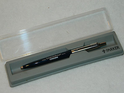 PARKER STYLO à BILLE Pen CREDIT MUTUEL concorde MULHOUSE banque FRENCH BANK