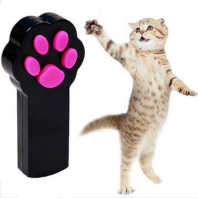 Cat Paw Pattern Laser Pointer Light Pet Cat Interact Toy with Silicone Buttons