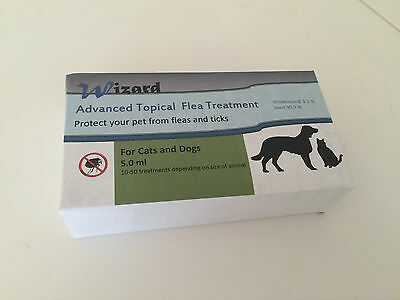 THE WIZARDS SECRET FOR ADVANCED FLEA CONTROL- 10 TREATMENTS for 16 to 30 lb Pets