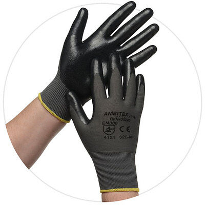 Ambitex Pro Microfoam Nitrile Coated Nylon Work Gloves, 1 Pair Large