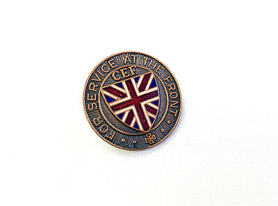 Canadian Military WWI Serivce at the Front Badge Pin Insignia CEF