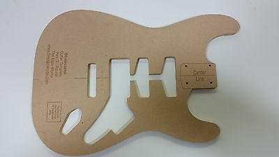 Stratocaster Guitar Body Routing Template