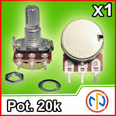 Potenziometro 20K lineare 15mm Potentiometer