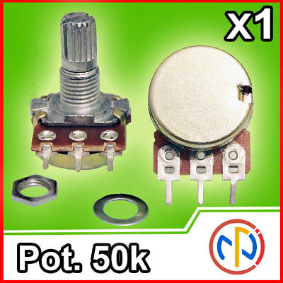 Potenziometro 50K lineare 15mm Potentiometer