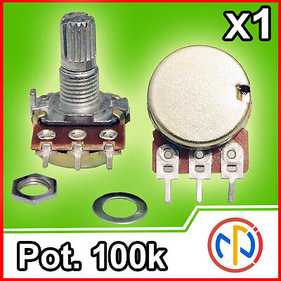 Potenziometro 100K lineare 15mm Potentiometer