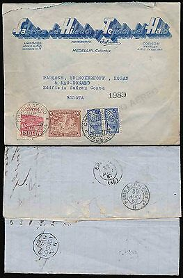Colombia 1946 Advert Env.fabricato Wings Closure Seal + Andi Label Postmarked