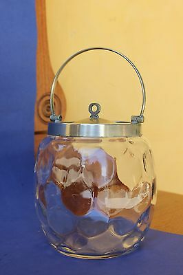 Antique Glass Biscuit Barrel.