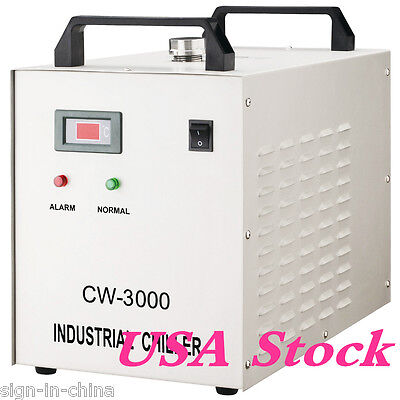 USA stock! 110V CW-3000DG Water Chiller for 60/ 80W Laser Engraving Machine
