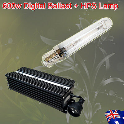 Hydroponics 600w HPS Grow Lamp Dimmable Digital Ballast For Grow Tent Combo