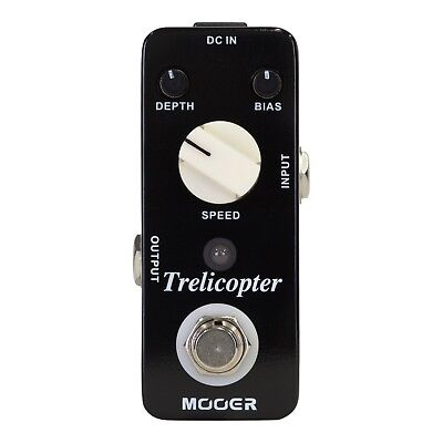 NEW Mooer Trelicopter Optical Tremolo Electric Guitar Effects Pedal FREE SHIP