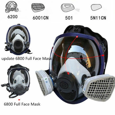15 in 1 Full Face Gas Mask Facepiece Respirator Painting Spraying New