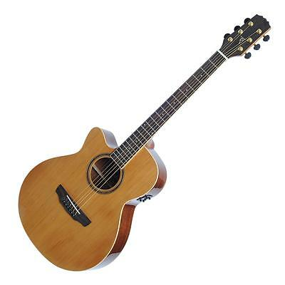 New Timberidge Left-Handed Solid Top Small-Body Acoustic-Electric Cutaway Guitar