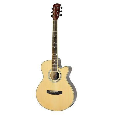 New Lorden Small-Body Acoustic-Electric Guitar Steel String with Cutaway