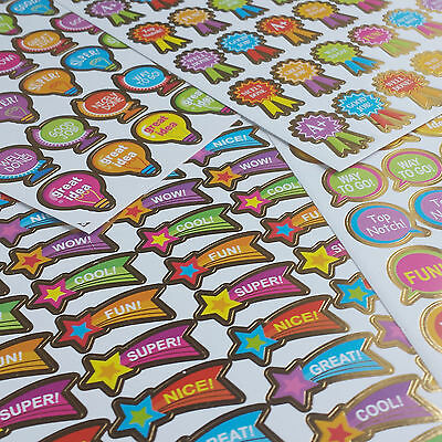 180 Reward Stickers Bulk School Teacher Merit Resource Good Children Parents