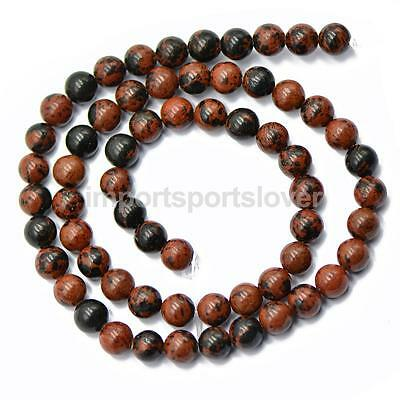 Wholesale Round Natural Gemstone Beads 6mm Red Black Obsidian Beads 15 Inch