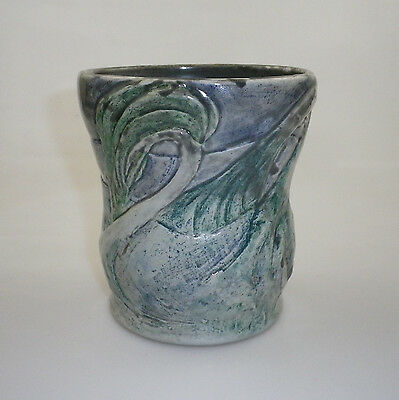 Merric Boyd Vase Decorated With Windswept Gum Trees.