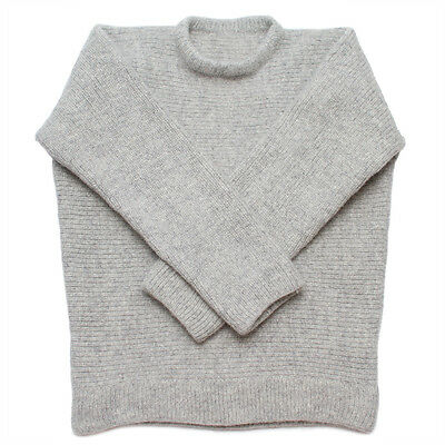 100% Wool Dachstein Woolwear Thick Boiled Wool Crewneck Sweater from Austria