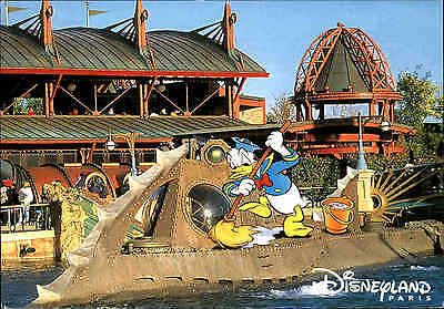 Euro Disney Paris Donald Duck color Postkarte Disneyland Frankreich France color