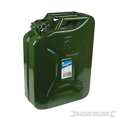 Jerry Can 20 litre Green Metal Fuel tank Container, Diesel or Petrol. - 730799
