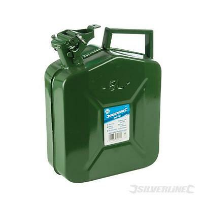 Jerry Can 10 litre Green Metal Fuel tank Container, Diesel or Petrol. - 563474