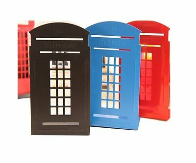 2pcs Vintage London Telephone Office Home Library Metal Bookends Book Holder