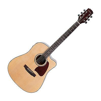 New Martinez Acoustic-Electric Dreadnought Cutaway Guitar (Natural Gloss)
