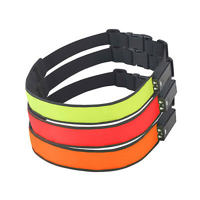 NEW Time to Run High Viz Rechargeable LED USB Cable Running Cycling Safety Belt