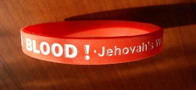 Wristband NO BLOOD!=PaCk3x +2Free=5pc_ Jehovah's Witness
