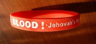 Wristband NO BLOOD!=Pack-3x _Jehovah's Witness