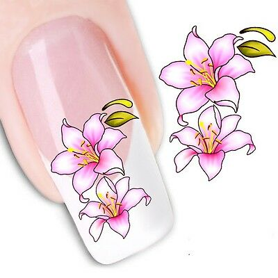 Nail Art Sticker Water Decals Transfer Stickers Flowers Floral (DX1114)